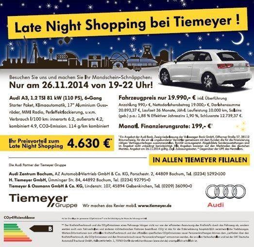 Damit Einhergehend Gibt Es Erstmalig Auch Für Alle Marken Die Besonders  Attraktiven Late Night Konditionen Auf Unsere Fahrzeuge Vor Ort.