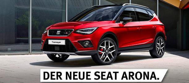 Der SEAT Arona bei Tiemeyer ab 04.11.2017 erhältlich